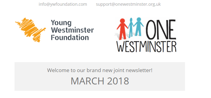 Our first joint newsletter from YWF & One Westminster